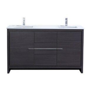 bathroom cabinets double sink. Save Modern Double Bathroom Vanities  AllModern