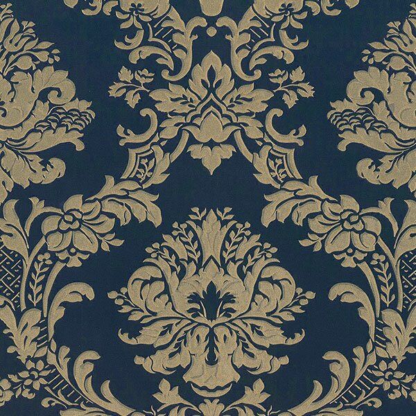 "Silk Impressions 32.7' x 20.5"" In Reg Classic Damask Wallpaper"