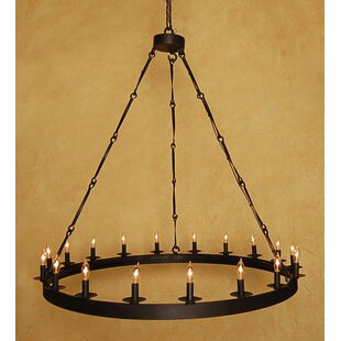 Canora Grey Arbuckle 18-Light Wagon Wheel Chandelier