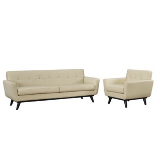 Saginaw Leather 2 Piece Living Room Set