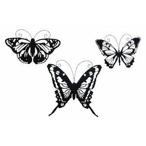 3 Piece Metal Butterfly Wall Décor Set