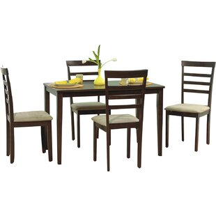 Lafayette 5 Piece Dining Set Red Barrel Studio