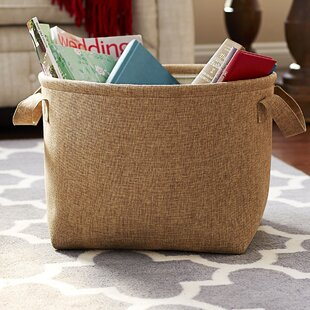 Reviews Round Soft Side Burlap Laundry Basket By Household Essentials