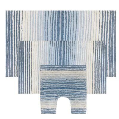 Blue Striped Bath Rugs Amp Mats You Ll Love In 2019 Wayfair