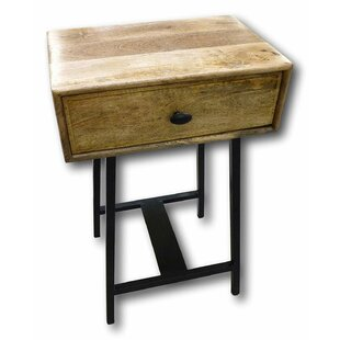 Gambier 1 Drawer Nightstand by Millwood Pines
