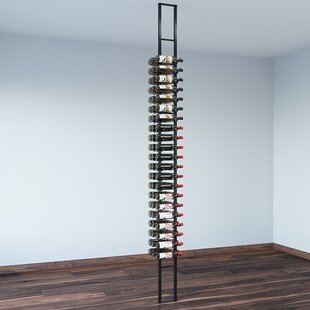 Floating 63 Bottle Wall Mounted Wine Bottle Rack