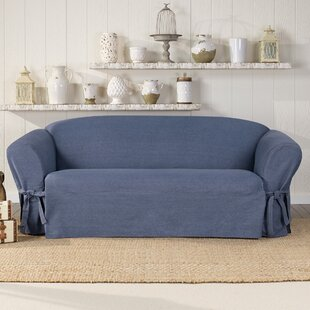 Authentic Box Cushion Sofa Slipcover by Sure Fit