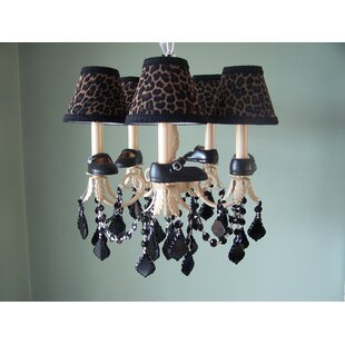 Silly Bear Lighting Lil Mama Mary Janes 5-Light Shaded Chandelier