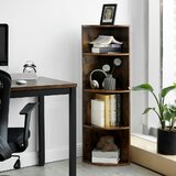 Clarksville 4-Tier Corner Bookcase by Union Rustic