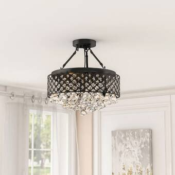 Mercer41 Chico 4 Light 11 75 Unique Statement Square Semi Flush Mount Reviews Wayfair