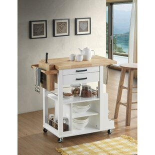 Rushmore Dual Tone Kitchen Cart