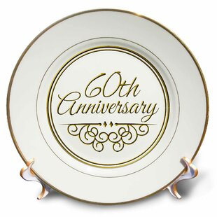 60th Anniversary Gift for Celebrating Wedding Anniversaries 60 Years Married Together Porcelain Decorative Plate