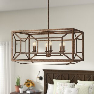 Read Reviews Jayanth 6-Light Square/Rectangle Chandelier By Gracie Oaks