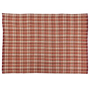 Behr Plaid Burgundy Indoor/Outdoor Area Rug