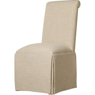 Alcott Hill Weare Solid Back Skirted Upholstered Dining Chair