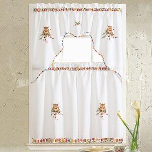 Embroidered Valances U0026 Kitchen Curtains | Wayfair