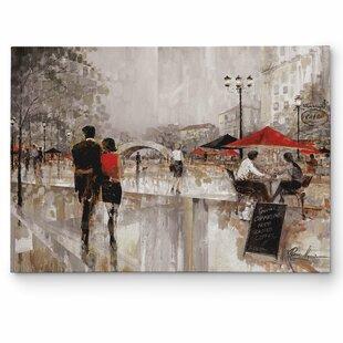 U0027Riverwalk Charmu0027 By Ruane Manning Painting Print On Wrapped Canvas