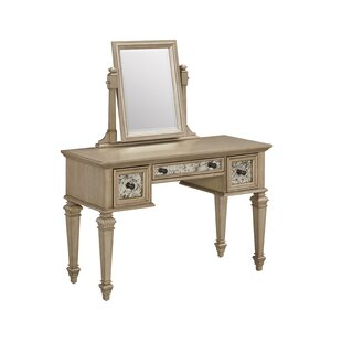 Erica Vanity with Mirror by Rosdorf Park