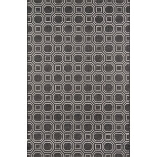 Downeast Camden Black Indoor/Outdoor Area Rug
