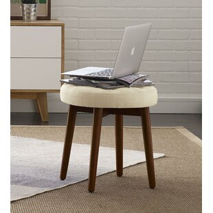 Elle Decor Penelope Round Tufted Accent Stool