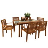 Mcshan International Home Outdoor 7 Piece Dining Set