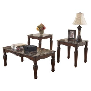 Vendramin 3 Piece Coffee Table Set Astoria Grand