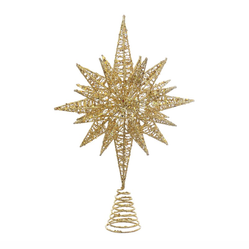Glitter Angle Star Tree Topper