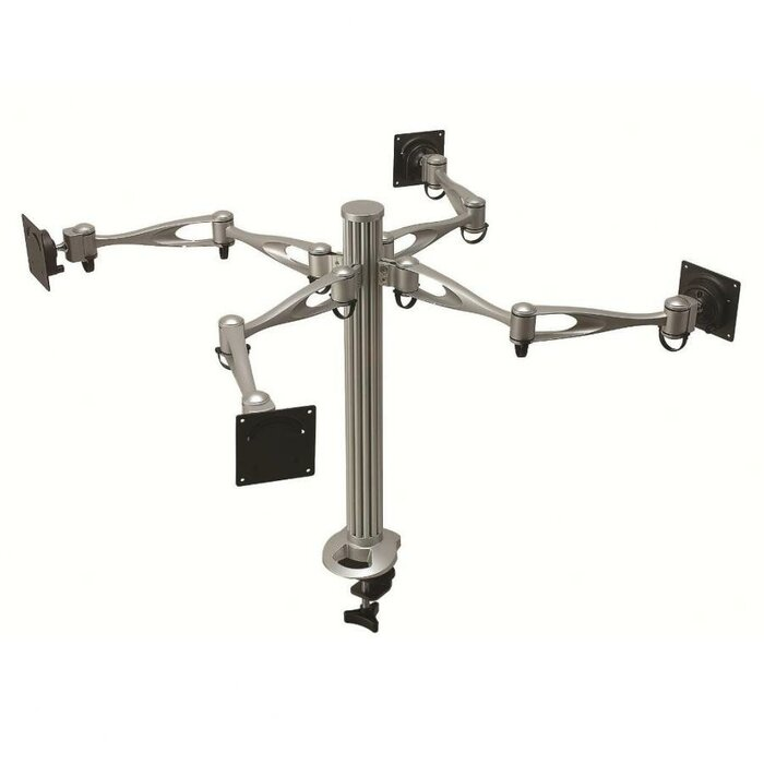 Peachy Height Adjustable 4 Screen Desk Mount Home Interior And Landscaping Elinuenasavecom