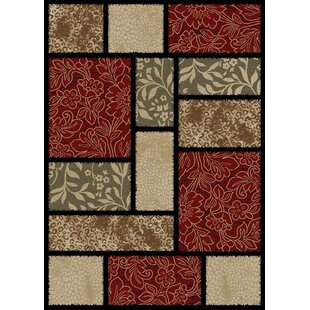 Compare & Buy Hometown Modern Panel Red/Black Area Rug By Mayberry Rug
