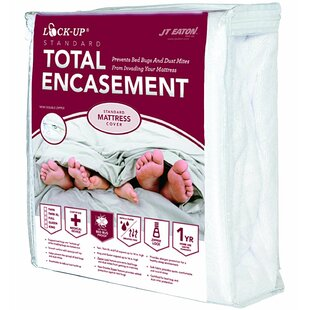 Lock-Up Total Encasement Hypoallergenic Waterproof Mattress Protector by JT Eaton Modern