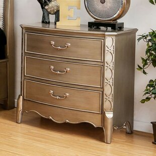 Kayley Transitional Wood 3 Drawer Nightstand by Rosdorf Park
