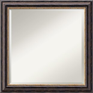 Darby Home Co Square Brown Wood Mirror
