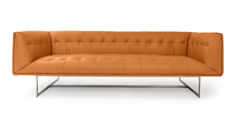 Chesterfield sofa modern  Kardiel Edward Mid Century Modern Leather Chesterfield Sofa ...