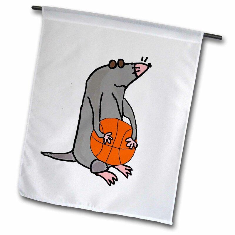 3drose Funny Cute Blind Mole Playing Basketball Cartoon Polyester 18 X 12 In Garden Flag Wayfair