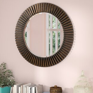 Round Eclectic Accent Mirror