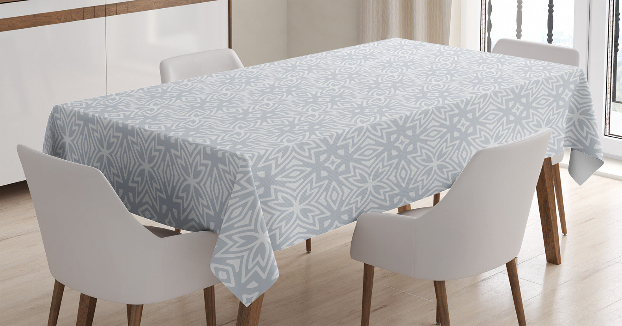 Picture of: East Urban Home Ambesonne Celtic Tablecloth Celtic Floral And Geometric Properties Old In New Design Rectangular Table Cover For Dining Room Kitchen Decor 60 X 90 Grey White Wayfair