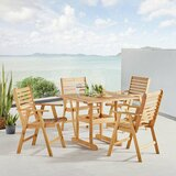 Sharice Outdoor 5 Piece Dining Set