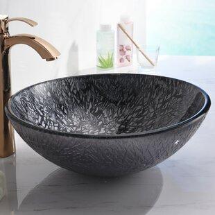Compare Arc Glass Circular Vessel Bathroom Sink By ANZZI