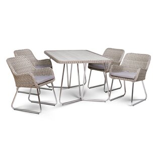 Choquette 5 Piece Patio Dining Set with C..