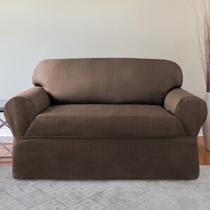 Bayside Box Cushion Loveseat Slipcover by CoverWorks