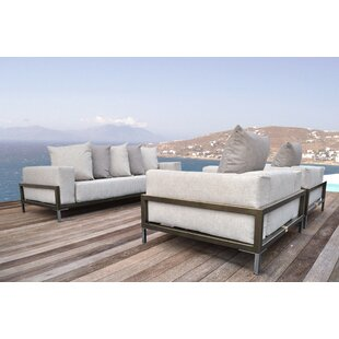 Tilly 3 Piece Sunbrella Sofa Set with Cushions