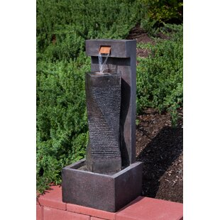 Alfresco Home Resin Column Fountain with Light
