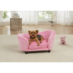 Ultra Plush Snuggle Dog Sofa with Cushion