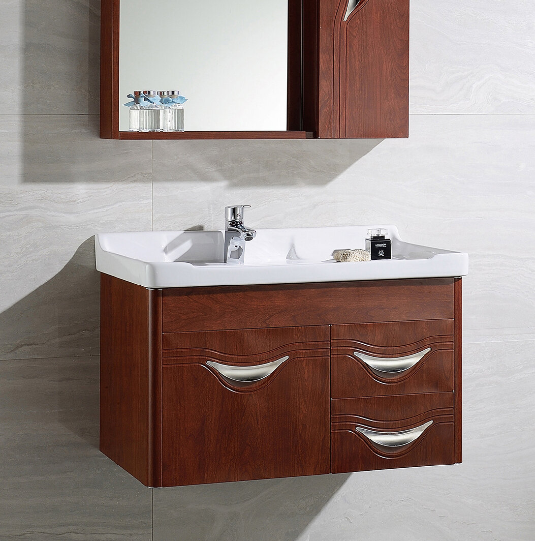 Canora Grey Donatello 32 Wall Mounted Single Bathroom Vanity Set Wayfair