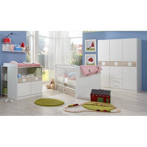 3-tlg. Babyzimmer-Set Kimba | Kinderzimmer > Babymöbel > Komplett-Babyzimmer | Eiche - Sägerau - Holzwerkstoff - Spanplatte | Wimex