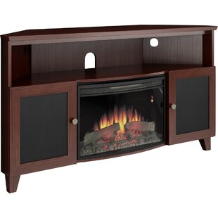 Shaker 61 TV Stand with Fireplace by Furnitech
