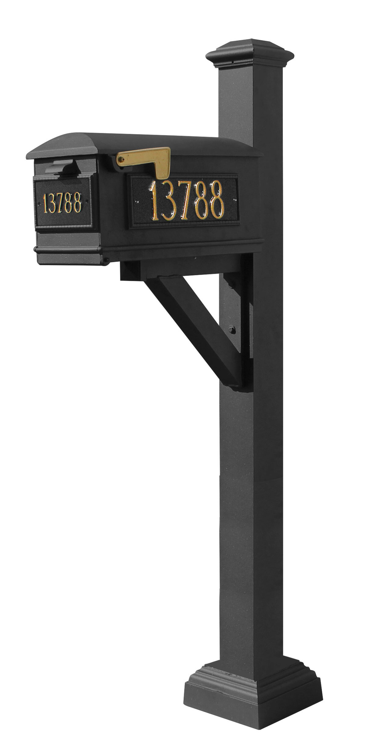 Qualarc Westhaven Lewiston Mailbox With Post Included Wayfair Ca