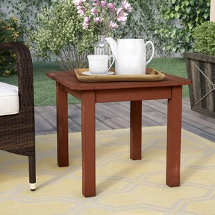 Dowling Solid Wood Side Table by Three Posts