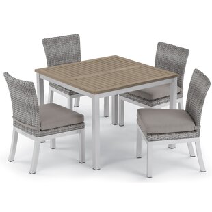 Saleh 5 Piece Dining Set with Cushions
