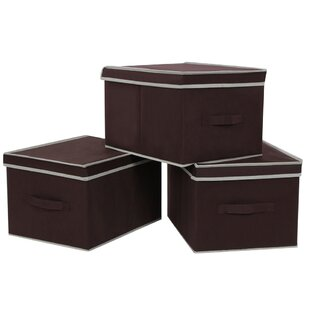 Looking for Foldable Storage Box with Lid (Set of 3) By Songmics